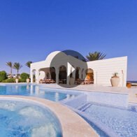 Take a 360° View of The Crystal Clear Swimming Pool at The Oberoi, Sahl Hasheesh