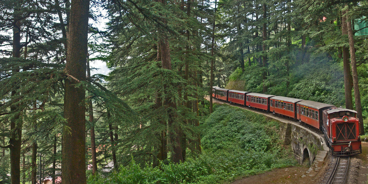 The Train Ride to Taradevi on UNESCO World Heritage Kalka-Shimla Train Line - The Oberoi Cecil, Shimla