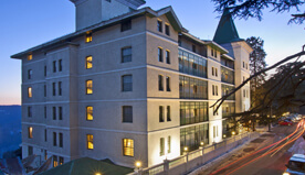 Romantic Views of The Cedar Trees & 24 Hour Room Dining in The Luxury Rooms at The Oberoi Cecil, Shimla