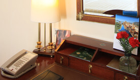 Luxury Rooms are Stylish & Practical With Walk-in Wardrobe, Electronic Safe etc., at The Oberoi Cecil, Shimla