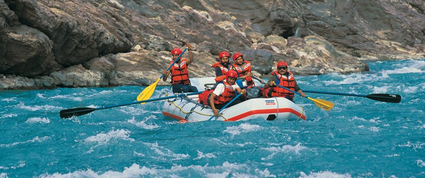White Water Rafting Through The Rapids of The Sutlej River in Shimla
