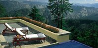 Outdoor Jacuzzi With View of Himalaya's Snow Capped Mountains - Wildflower Hall, Shimla in The Himalayas