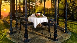 Dinner at the Gazebo at Wildflower Hall, Shimla in The Himalayas