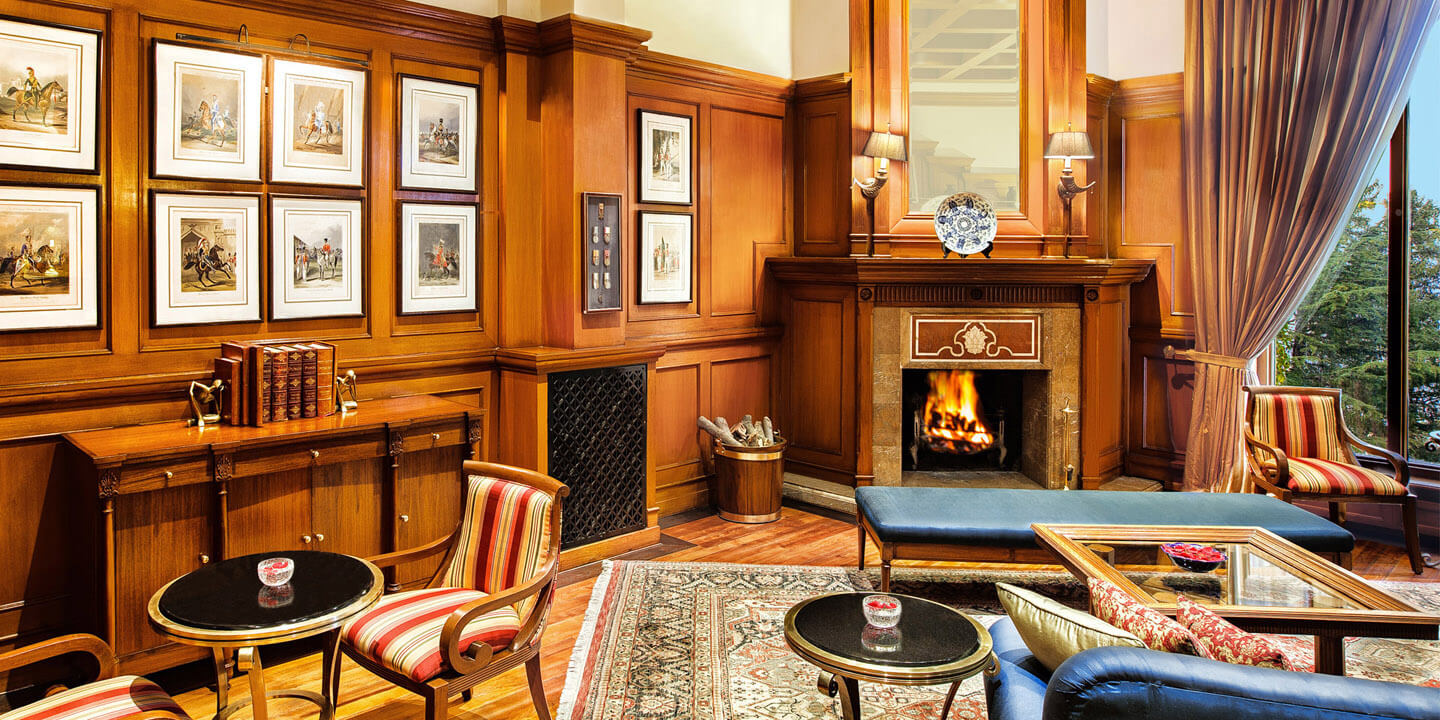 The Cavalry Bar at Wildflower Hall, Shimla in The Himalayas