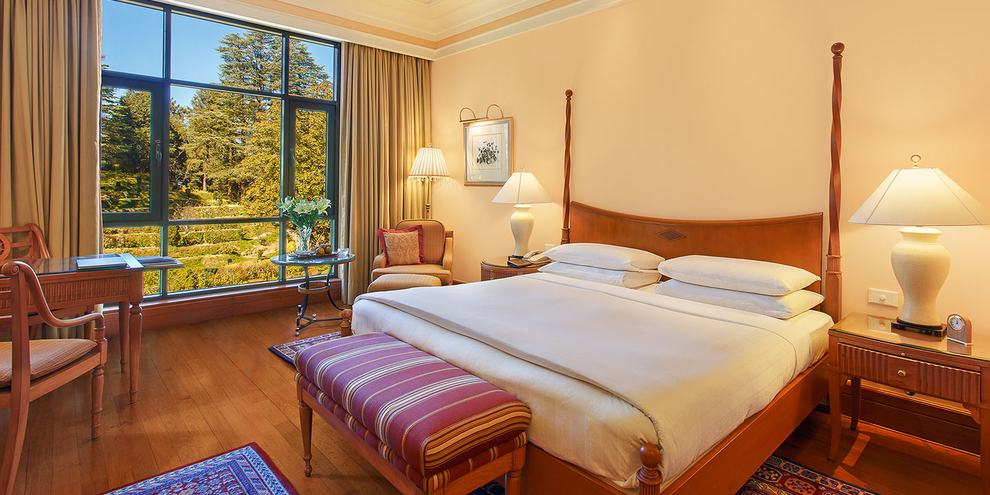Deluxe Garden View Rooms at Wildflower Hall, Shimla in The Himalayas