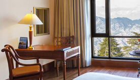 Exquisite Facilities in Premier Mountain View Rooms at Wildflower Hall, Shimla in The Himalayas