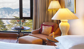 Victorian Styled Furnishings - Premier Mountain View Rooms at Wildflower Hall, Shimla in The Himalayas