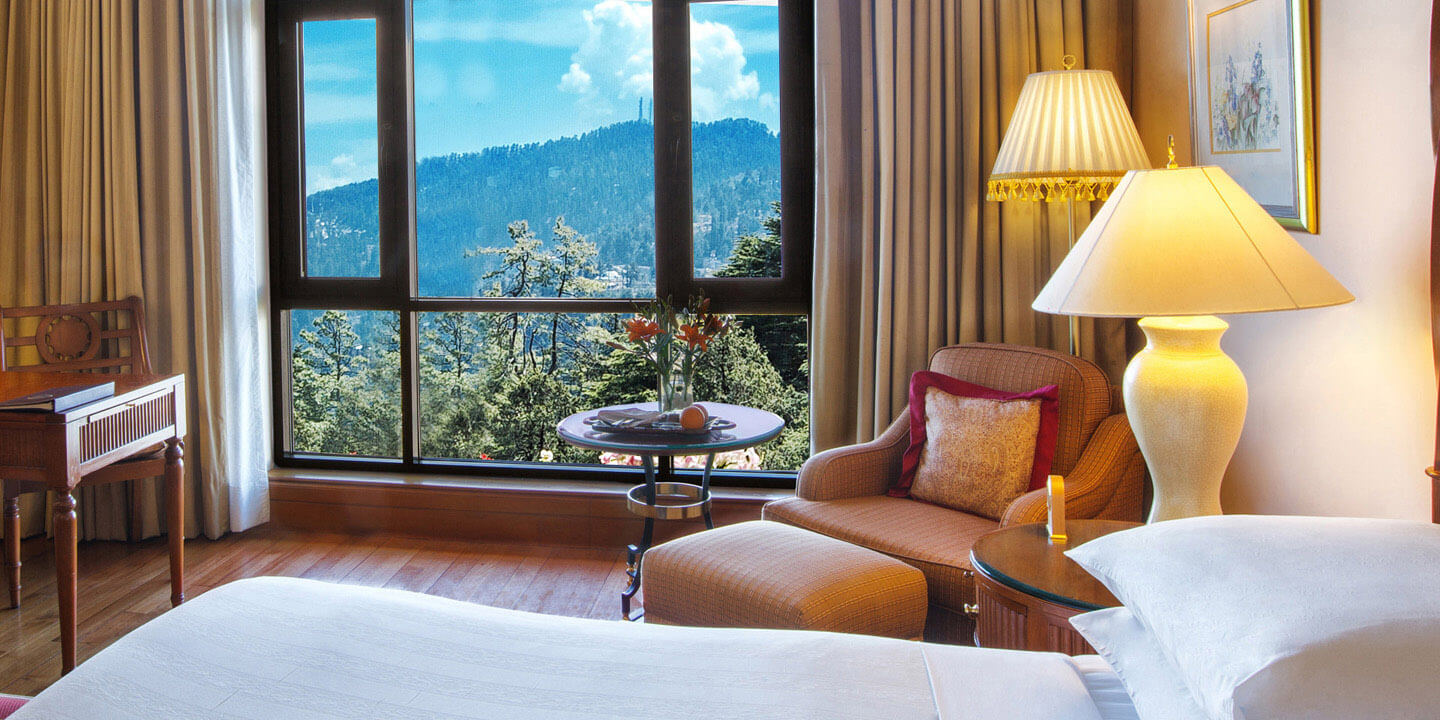 Premier Valley View Rooms at Wildflower Hall, Shimla in The Himalayas