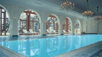 Swimming Pool at Wildflower Hall, Shimla in The Himalayas