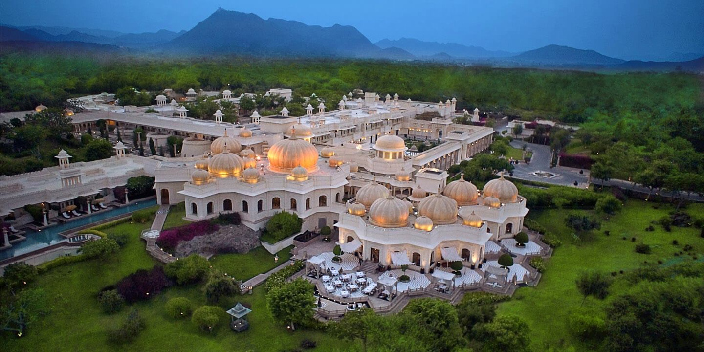 Arial View of The Oberoi Udaivilas in Udaipur