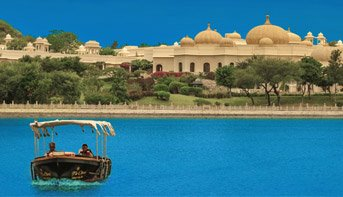 Private City Tour by Boat in Shikara, The Traditional boat on Lake Pichola, Udaipur - The Oberoi Udaivilas