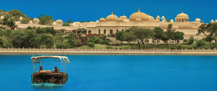 Private City Tour by Boat, Shikara, The Traditional boat on Lake Pichola in Udaipur - The Oberoi Udaivilas