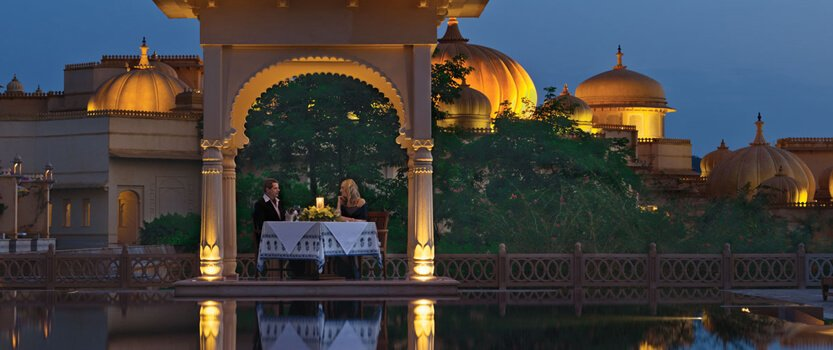 Private Dinner Under the Lakeside Carved Domes - The Oberoi Udaivilas, Udaipur