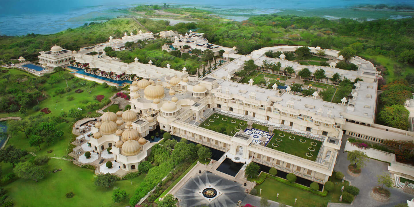 Arial View Of The Oberoi Udaivilas In Udaipur Rajasthan