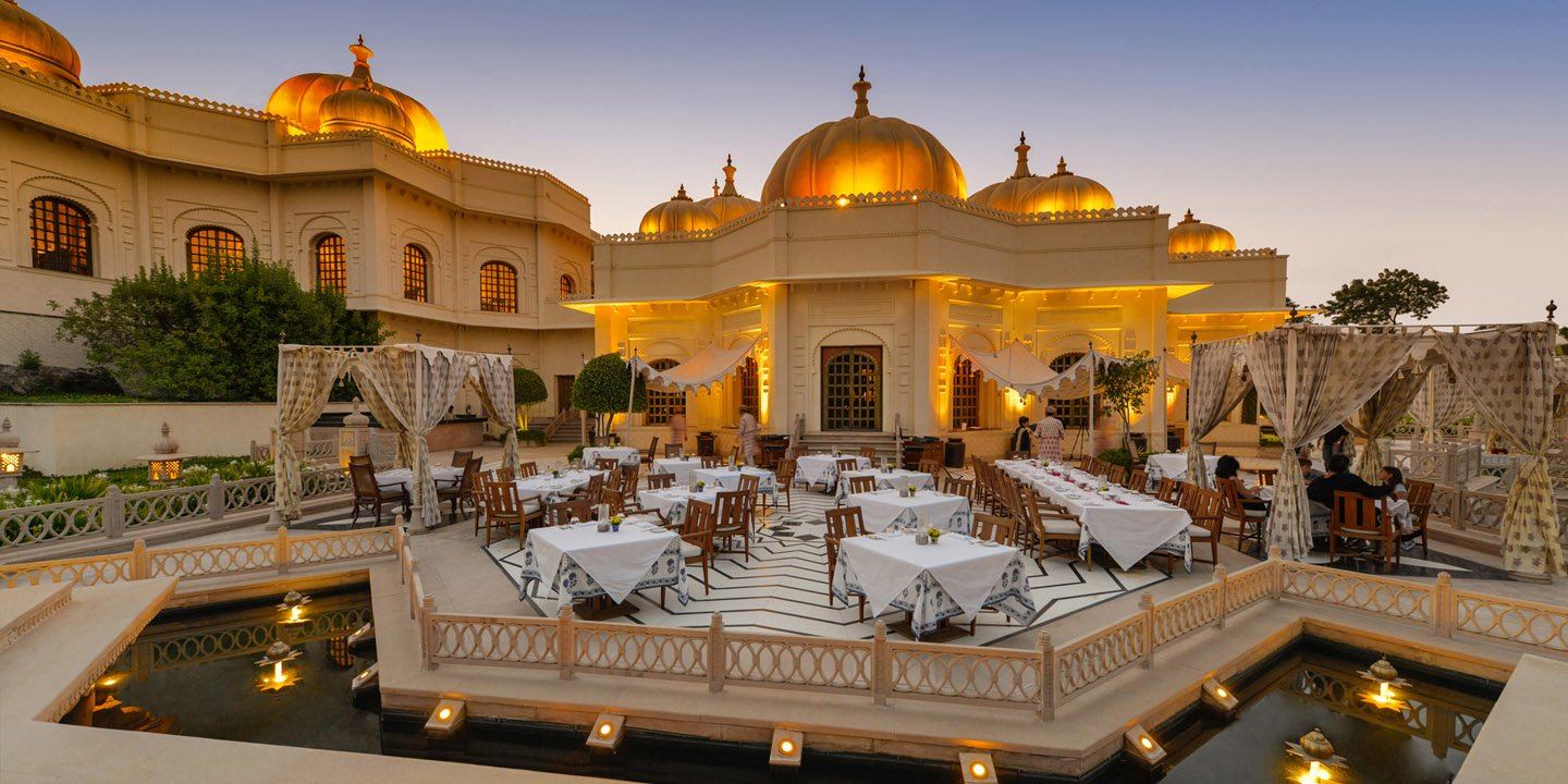 Chandni, Al Fresco Dining Space at The Oberoi Udaivilas, Udaipur