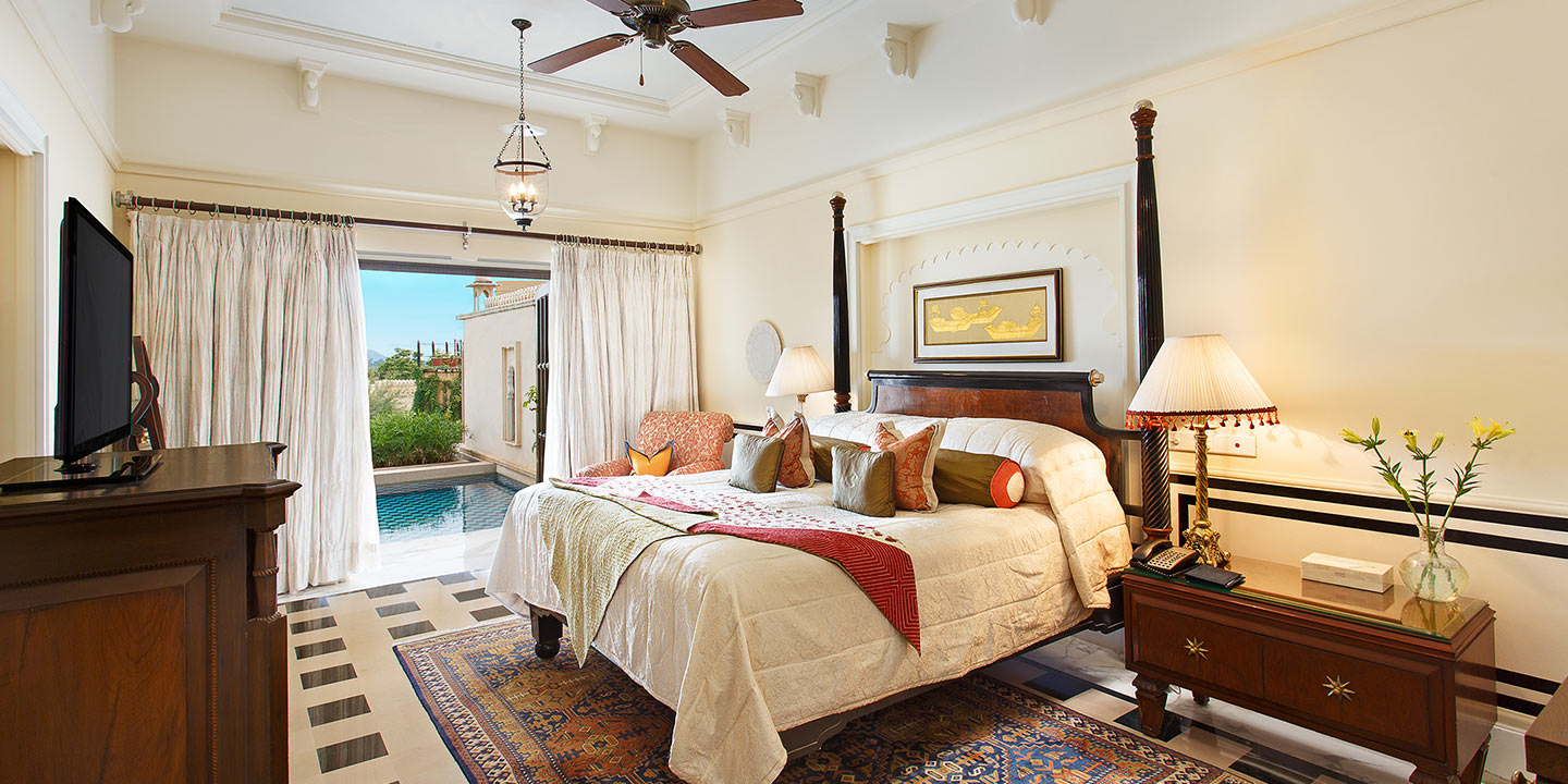 Semi-Private Pools - Luxury Rooms & Suites at The Oberoi, Udaivilas, Udaipur