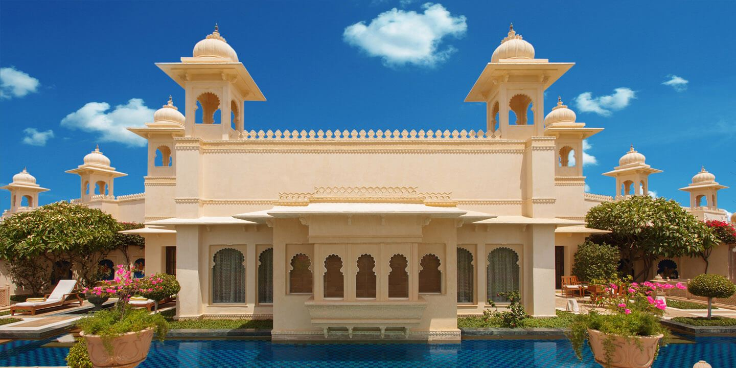 Outdoor Private Pool in Kohinoor Suite at The Oberoi Udaivilas, Udaipur