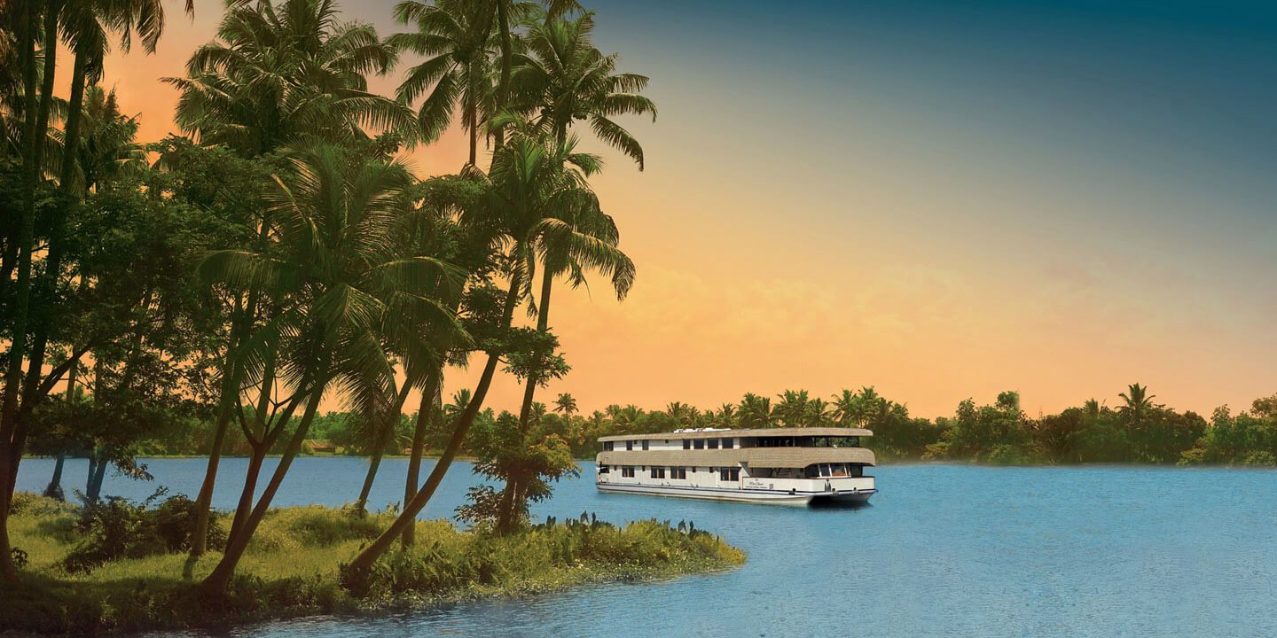 The Luxury Cruise on The Backwaters of Kerala - The Oberoi Motor Vessel Vrinda, Kerala