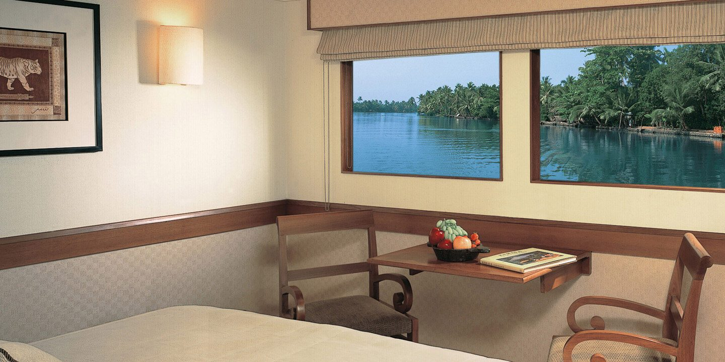Deluxe Cabin With Views of Backwaters of Vembanad Lake on The Oberoi Motor Vessel Vrinda, Kerala