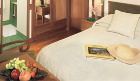 Bright & Refresing With Elegant Furnighings are The Deluxe Cabins on The Oberoi Motor Vessel Vrinda, Kerala
