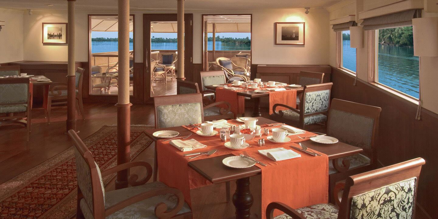 All Day Dining Space - The Oberoi Motor Vessel Vrinda, Kerala