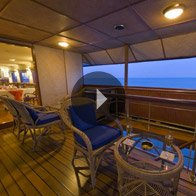 Take a 360° View of The Front Deck at Sunset - The Oberoi Motor Vessel Vrinda, Kerala