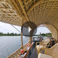 Take a 360° View of The Kairali Rice Boat for Sightseeing The Oberoi Motor Vessel Vrinda, Kerala