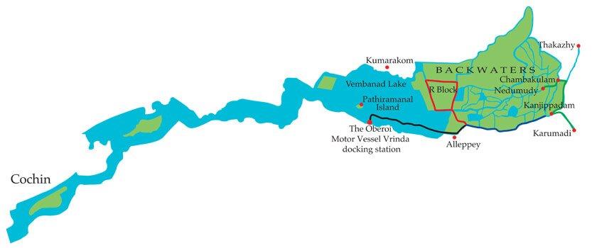 Kerala Backwater Cruise Itinerary   The Oberoi Motor ...