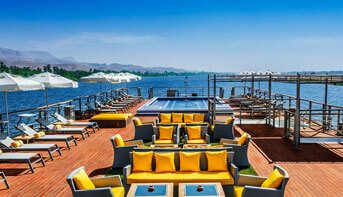 Temperature Controlled Swimming Pool on The Deck of The Oberoi Philae, Luxury Nile Cruiser