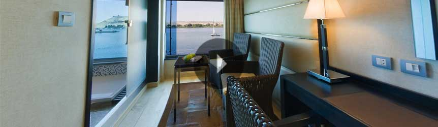 Take a 360° View of The Luxury Cabins on The Oberoi Zahra, Luxury Nile Cruiser