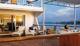 In-Room Facilities - High Speed WiFi, Personal Bar &  Electronic Safe in The Luxury Suite - The Oberoi Zahra, Luxury Nile Cruiser