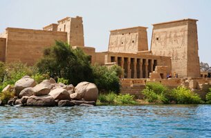 Philae Temple On The Island of Agilika - Cruise Highlights - The Oberoi Zahra, Luxury Nile Cruiser