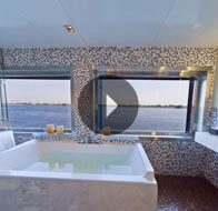 Take a 360° View of The Luxury Suite Bathroom on The Oberoi Zahra, Luxury Nile Cruiser