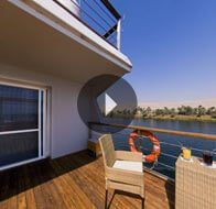 Take a 360° View of The Luxury Suite Terrace on The Oberoi Zahra, Luxury Nile Cruiser