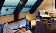 The Library & Cigar Lounge - The Oberoi Zahra, Luxury Nile Cruiser