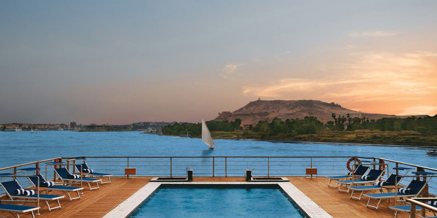 Sundeck With Pool on The Oberoi Zahra, Luxury Nile Cruiser