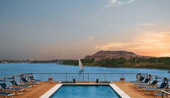 Temperature Controlled Swimming Pool on The Deck of The Oberoi Zahra, Luxury Nile Cruiser